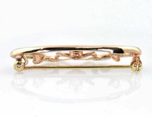 Brosche 333/000 8 K Gelbgold Opal