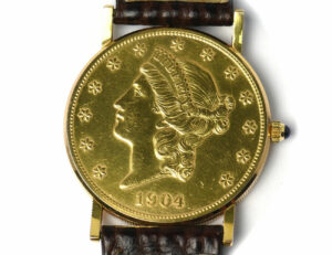CORUM Twenty Dollar 1904 Coin Gold Herrenuhr Handaufzug