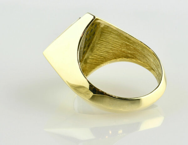 Diamant Ring 585/000 14 K Gelbgold 24 Brillanten zus. 0,48 ct