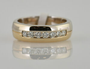 Diamant Ring 585/000 14 K Gelbgold 7 Brillanten zus. 0,50 ct