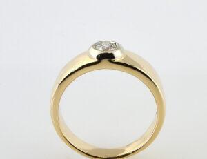 Diamant Solitär Ring 585/000 14 K Gelbgold Brillant 0,25 ct