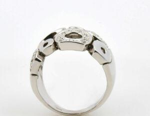 Diamantring 333/000 8 K Weißgold 28 Diamanten zus. 0,25 ct