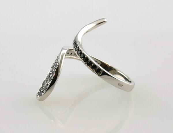 Diamantring 585 14 K Weißgold 46 Diamanten zus. 0,50 ct