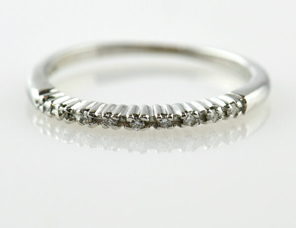 Diamantring 750/000 18 K Weißgold 9 Brillanten zus. 0,07 ct