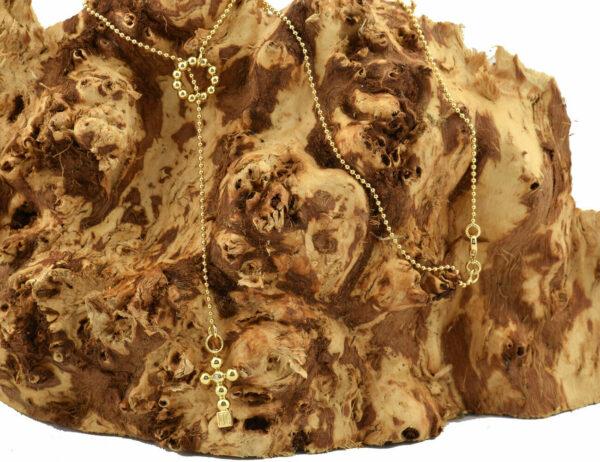 Jette Joop Collier Kreuz 750/000 18 K Gelbgold 2 Brillanten zus. 0,02 ct