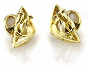 Ohrringe Mabe´perle 585 14 K Gelbgold Perlohrstecker