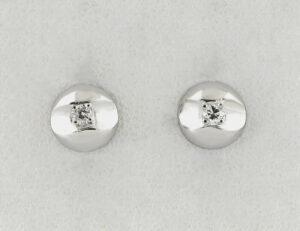 Ohrstecker 585/000 14 K Weißgold, 2 Diamanten zus. 0,07 ct