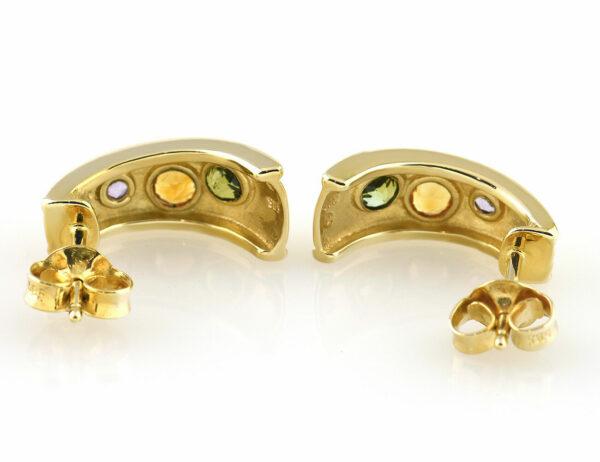 Ohrstecker Rubin, Citrin, Peridot 585 14 K Gelbgold