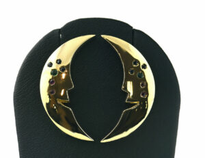 Ohrstecker Rubin, Smaragd, Saphir 585 14 K Gelbgold