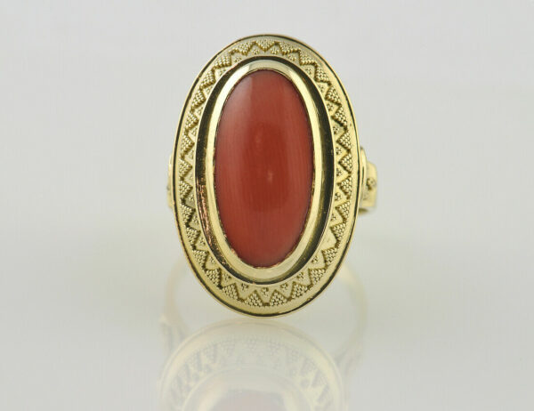 Ring Koralle 585 14 K Gelbgold