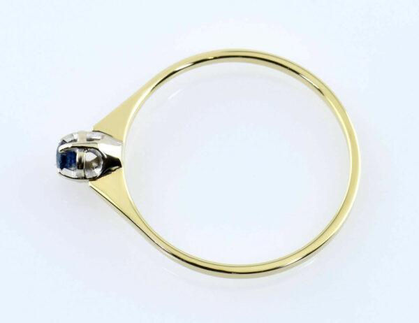 Saphir Ring 333/000 8 K Gelbgold