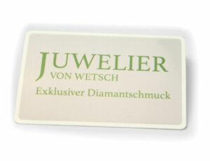 Solitär Diamantring 585/000 14 K Weißgold Brillant 0,11 ct