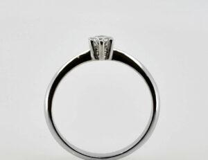 Solitär Diamantring 585/000 14 K Weißgold Brillant 0,22 ct
