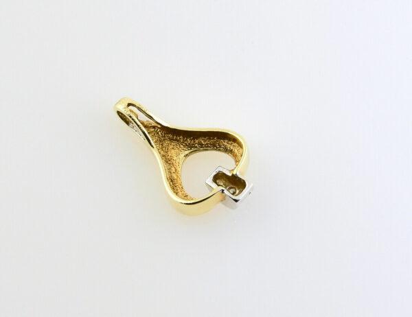 Anhänger Diamant 585/000 14 K Gelbgold Diamant 0,01 ct