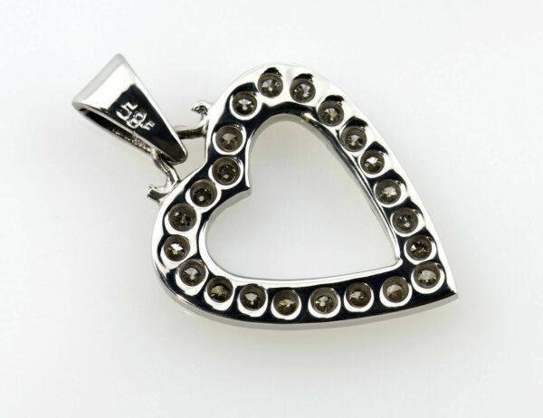 Anhänger-Diamant 585/000 14 K Weißgold 24 Brillanten zus. 0,36 ct