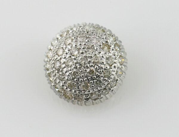 Anhänger-Diamant 750/000 18 K Weißgold 36 Brillanten zus. 0,40 ct
