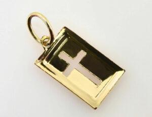Anhänger Kreuz 333/000 8 K Gelbgold
