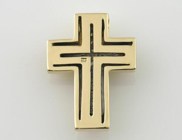 Anhänger Kreuz 585/000 14 K Gelbgold 17 Brillanten zus. 0,20 ct