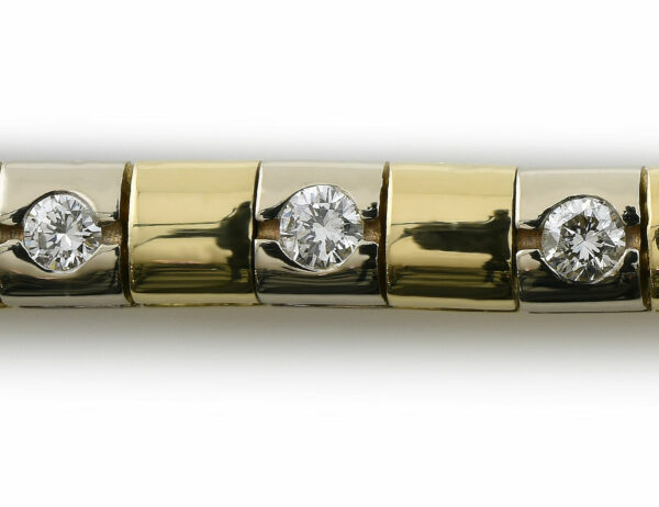 Armband 19 cm 750/000 18 K Gelbgold 25 Brillanten zus. 1,25 ct