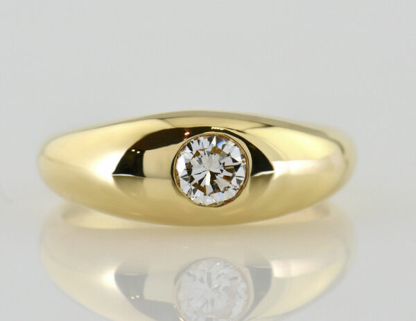 Diamant Solitär Ring 585/000 14 K Gelbgold Brillant 0,36 ct