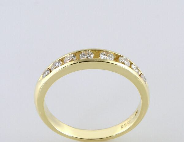 Diamantring 585/000 14 K Gelbgold 8 Brillanten zus. 0,50 ct