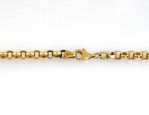 Erbskette 585/000 14 K Gelbgold, 60 cm lang