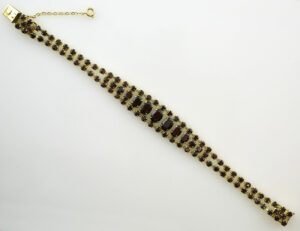Granat Armband 18,50 cm 333 8 K Gelbgold
