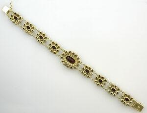 Granat Armband 19 cm 333/000 8 K Gelbgold