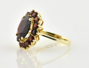 Granat Ring 333 8 K Gelbgold