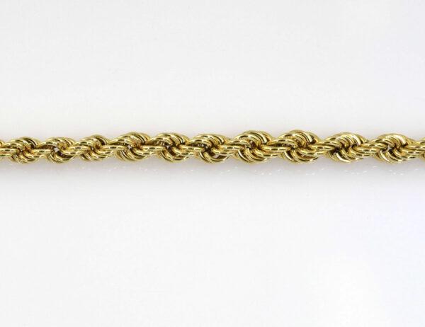 Kordelkette 750/000 18 K Gelbgold, 60 cm lang