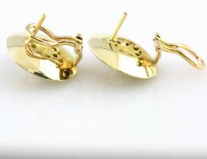 Ohrstecker Granat Perle 585 14 K Gelbgold Omegaverschluss