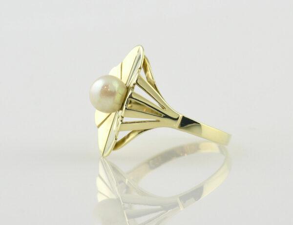 Ring Akoyaperle 585 14 K Gelbgold