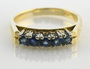 Saphir Ring 750 18 K Gelbgold
