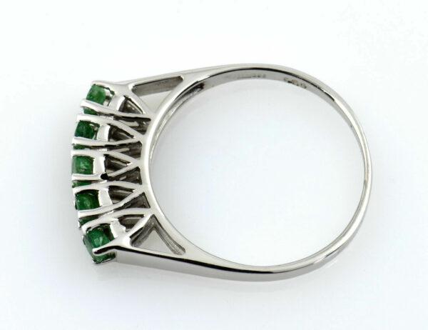 Smaragd Ring 585/000 14 K Weißgold