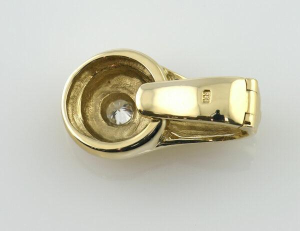 Solitär Anhänger Clip 585/000 14 K Gelbgold 7 Brillanten zus. 0,20 ct
