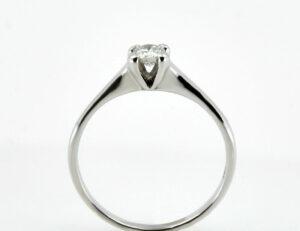 Solitär Diamantring 585/000 14 K Weißgold Brillant 0,21 ct