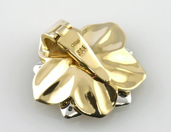 Anhänger Saphir 585 14 K Gelbgold Brillant 0,25 ct