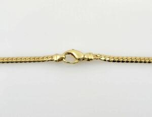 Collier 585/000 14 K Gelbgold 7 Brillanten zus. 0,15 ct, 46 cm lang