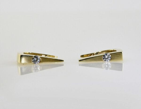 Creolen 333/000 8 K Gelbgold Zirkonia