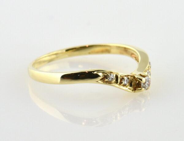 Diamant Ring 585/000 14 K Gelbgold 5 Diamanten zus. 0,10 ct