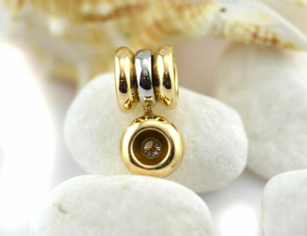 Diamant Solitär Anhänger 750 18 K Gelb/Weißgold Brillant 0,25 ct