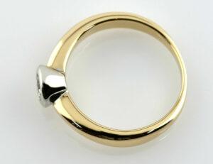Diamant Solitär Ring 585/000 14 K Gelbgold Brillant 0,32 ct