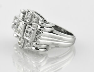 Diamantring 585 14 K Weißgold 13 Diamanten zus. 1,50 ct