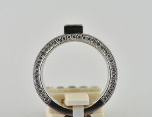 Diamantring Solitär 585/000 14 K Weißgold 71 Brillanten zus. 0,70 ct