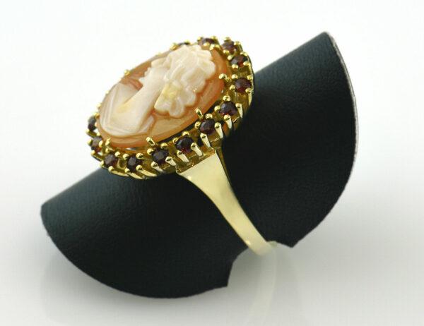 Gemme, Granat Ring 333/000 8 K Gelbgold