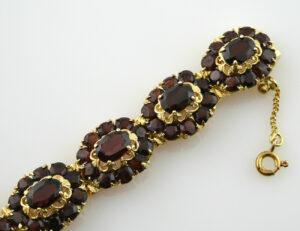Granat Armband 585/000 14 K Gelbgold19 cm lang