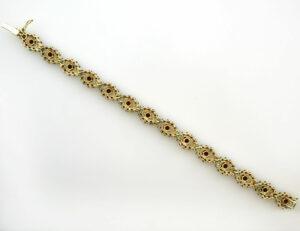 Granat Armband 19,50 cm 333 8 K Gelbgold