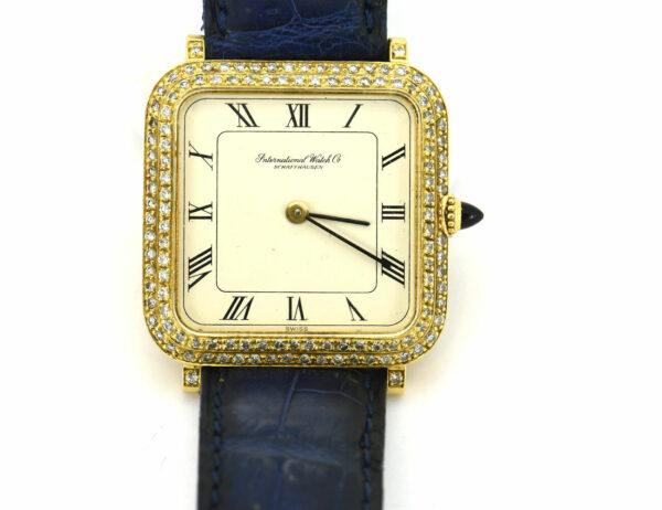 IWC Schaffhausen 750/000 18 K Damenuhr Gold Diamant zus. ca. 0,90 ct