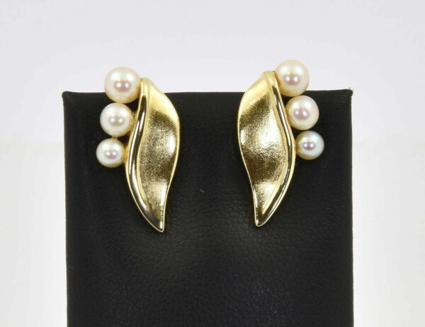 Ohrclip Perle 585/000 14 K Gelbgold