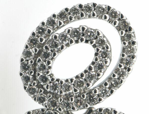 Ohrstecker 585 14 K Weißgold, 186 Diamanten zus. 1,00 ct
